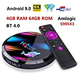 4G 64Gスマートテレビボックス H96 Max X3 Android 9.0 Smart TV Box Quad Core 4G DDR3 64G EMMC ROM セットトップボックス Support 4K 8K 3D H.265 Dual WiFi 2.4G /5G