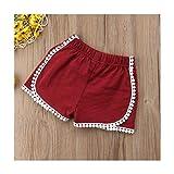 Bragas para niño y niña, pantalones cortos Bloomer, funda para pañales de verano sólido (color: rojo, talla de niño: 18 m)