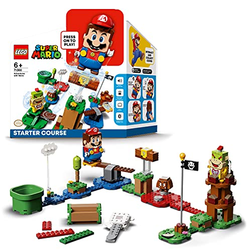 LEGOSuperMarioStarterPackCostruibileperilPercorsodiBaseAvventureconSuperMario,GiocattoloeIdeaRegaloperBambini(231pezzi),71360