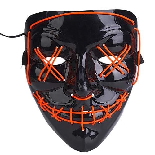 Tbest griezelmasker, masker, kostuum, clown-masker, verlichting voor Halloween-party, vakantie, carnaval, cosplay, party