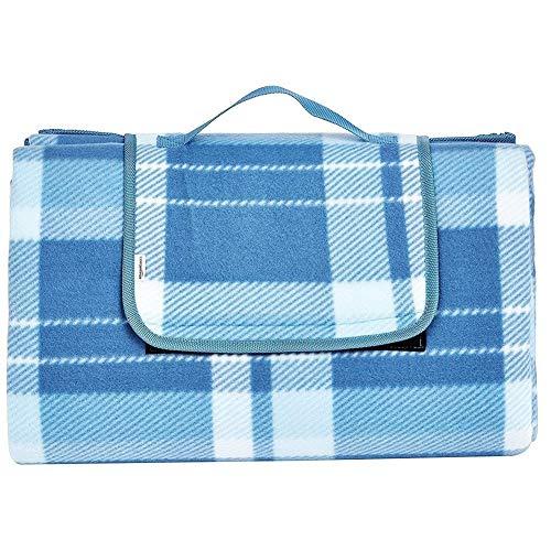 XiuLi Reisedecke mit Alurückseite, wasserdichte Picknickdecke, wärmeisolierte Campingdecke, sanddichte Stranddecke mit Tragegriff XXL 200x200cm (Color : Blue, Size : 200 * 200CM)