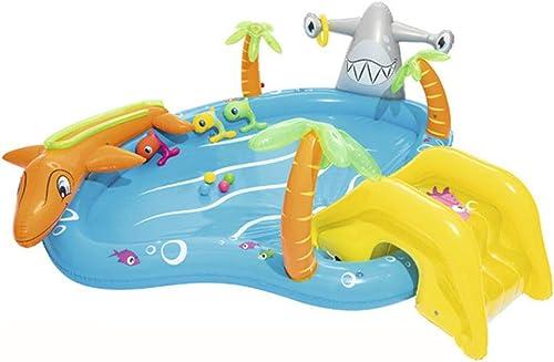 nueva marca Piscina Inflable Infantil Piscina para Niños Pelota de Ocean Ball Ball Ball con Bomba Familia de Niños Infantiles Marinos Piscina Acuática Juego Diverdeido 280x257x87cm  80% de descuento