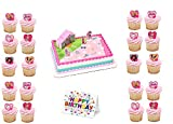 Barbie Sweet Sparkles Cake Topper PLUS 24 Matching Cupcake Rings Plus Birthday Card