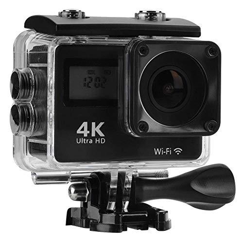 Tonysa Unterwasserkamera, 4K 12 MP WiFi 30m wasserdichter Sportkamera, Action Camcorder mit 170 ° Weitwinkel Objektiv, 2 Zoll 1080P HD Bildschirm, Eingebaute 1050mAh Batterie