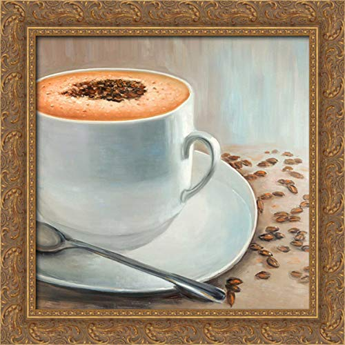 Atelier B Art Studio 20x20 Gold Ornate Framed Canvas Art Print Titled: Cappuccino Time
