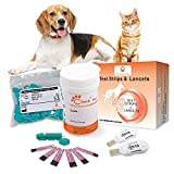 Pet Control HQ Blood Sugar Glucose Extra Test Strips - Calibrated for Dogs and Cats - Lab-Accurate Diabetes Testing w/ 2 Calibrated Code-Chips, 50 Diabetic Test Strips, Lancets (Monitor Not Included)