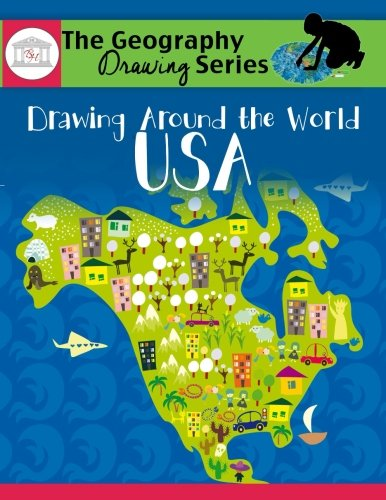 Drawing Around The World Usa Geography For Kids The Geography Drawing Series
