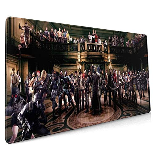 Resi-dent E-vil Long Mouse Pad Extended Gaming Mouse Mat/Pad Ideal for Desk Cover, Computer Keyboard, PC and Laptop 35.4x15.7 in