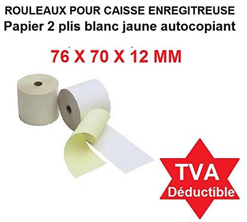 20 Nachfüllrollen für Taschenrechner und Rekorder mit NICHT THERMISCHEM DRUCK Papier, Weißes elektrisches Blatt 57 x 70 x 12 mm, Buchhaltungsrolle 57x70 Afn7 60g