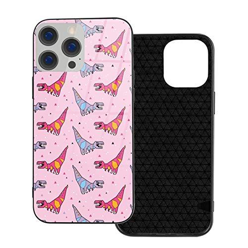 Funda para teléfono Origami Dinosaurs Funda para teléfono para iPhone 12/12 Mini / 12 Pro / 12 Pro MAX Contraportada de Vidrio Templado + TPU para iPhone 12 Pro MAX 6.7 Pulgadas