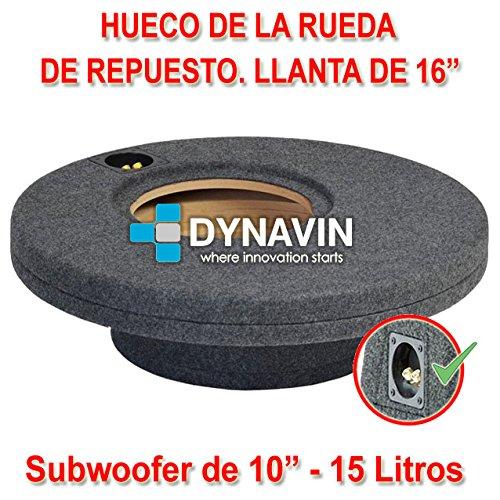 Dynavin Caja ACUSTICA para SUBWOOFER para Hueco Rueda DE Repuesto EN EL Maletero