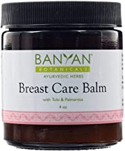 Banyan Botanicals Breast Care Balm - Certified Organic, 4 oz - Tulsi & Palmarosa For Massage Aid for Regular Breast Care