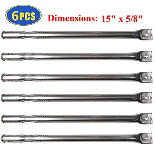 Set of 6 Burner Tubes for Nexgrill 720-0896B, 720-0896C, 720-0882A Grill Replacement Parts, 15 in Stainless Steel Burner Replacement for Nexgrill 720-0896, 720-0925 Gas Grills Burners Grill