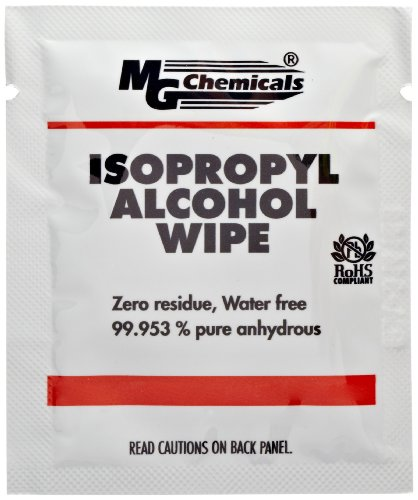 """MG Chemicals 824-W Salvietta con alcool isopropilico al 99,9%, 6 """"x 5"""" (confezione da 50)"""