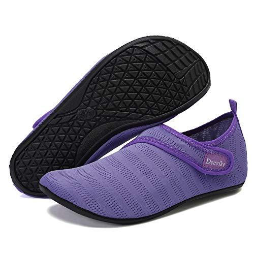 Deevike – Zapatillas de agua para hombre y mujer, secado rápido, calcetines acuáticos, para exterior, natación, surf, yoga, ejercicio, color, talla 36/37 EU