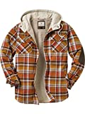 Legendary Whitetails Camp Night Hooded Flannel Arrowood Brown Plaid X-Large