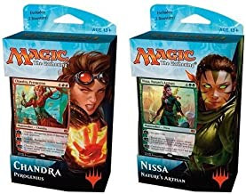 Magic Kaladesh Chandra and Nissa Planeswalker 60-card Decks with 4 Booster Packs