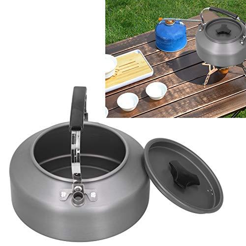 Tetera para acampar, tetera para barbacoa de alta calidad Tetera para café Ampliamente utilizada Aspecto elegante para picnic Camping para actividades al aire libre para cocina casera