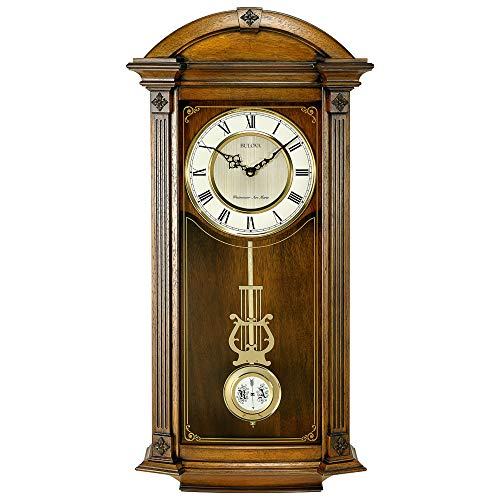 Bulova C4331 Hartwick Chiming Clock, Walnut