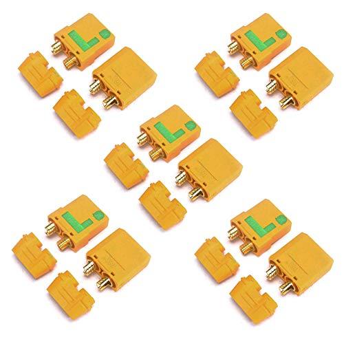 ZHITING 5 Pares XT90S XT90-S XT90 Conector Anti-Chispa Adaptador de Motor Macho Hembra para ESC, RC Quadcopter Motor sin escobillas, RC Car Truck