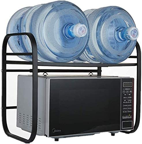 COLiJOL Kitchen Storage Rack Desktop Microwave Oven Racks Kitchen Floor Household Oven Storage Cabinets to Organize Shelves Black (Color 1),1