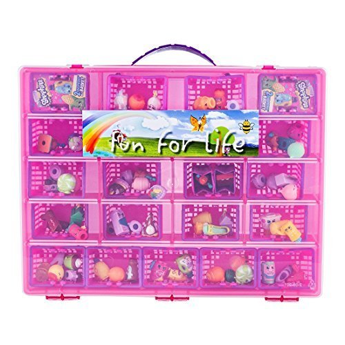 Fun For Life Storage Case with Carrying Handle, Strawberry / Pink