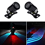 Motorcycle Angel Wings Projection Light Kit, Underbody Waterproof Ghost Shadow lights for Motorcycles - Universal (Ice Blue, Pack of Pair)