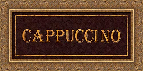 Jones, Catherine 24x11 Gold Ornate Framed Canvas Art Print Titled: Cappuccino
