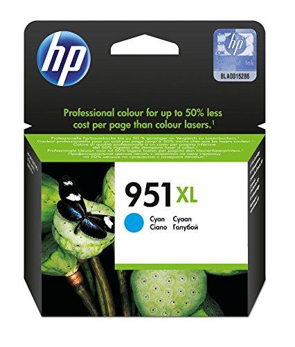 HP 951XL cartucho de tinta Original Cian 1 pieza(s) - Cartucho de tinta para impresoras (Original, Cian, HP Officejet Pro 8100 HP Officejet Pro 8600, 1 pieza(s), Impresión por inyección de tinta, Alto rendimiento (XL))
