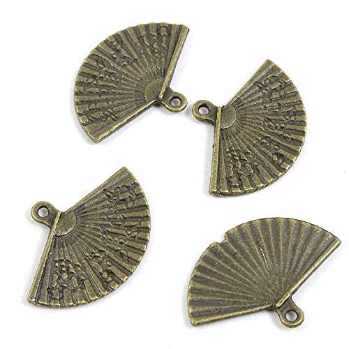 Abalorios de joyería de tono bronce antiguo 324091 abanico plegable para manualidades...