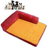 Jilisay Orthopädische-Hundebett, Plüsch weiche Hundematte Großes Hundebett Herausnehmbare waschbare Chaise Lounge Pet Sofa Kennel Corner Couch-d 55x45x7cm (22x18x3in) Color :...