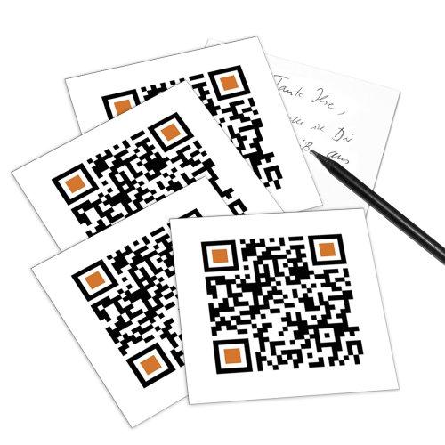 I LOVE YOU - 5er Set QR Code-Postkarte - mit Smartphone einscannen und Grußbotschaft erhalten: