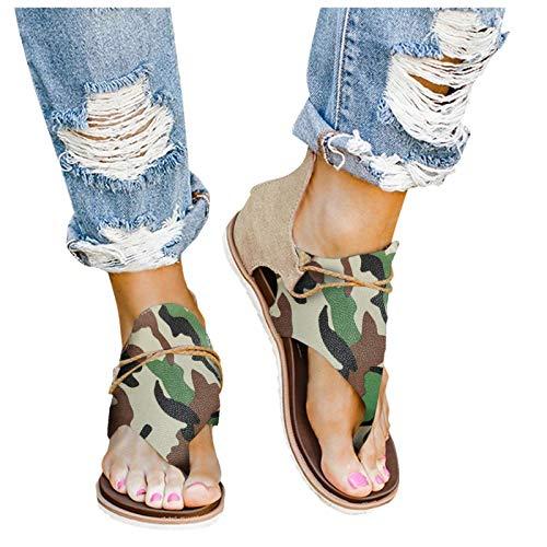 Damen Keilabsatz Sandalen Frauen Sommer Offene Schuhe Faux Leder Plattform Flip Flops Freizeit Sommerschuhe,Retro-Flip-Flop-Sandalen im Retro-Stil für Damen, Mädchen Mode Riemchensandalen
