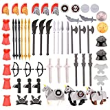 YIFAN Building Blocks Military Wearpons Toys Set, 61PCS Toy Weapons Pack for Buicling Brick Minifigures Including Toy Sword, Arrow, Helmet,Compatible with Major Brand