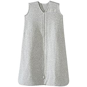 crib bedding and baby bedding halo sleepsack 100% cotton wearable blanket, heather grey, x-large