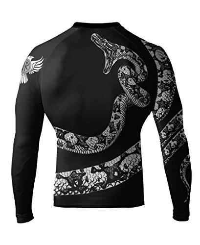 Raven Fightwear Constrictor Snake White IBJJF Approved MMA Rash Guard Medium