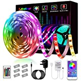 LED Strips Lights, L8star Led Lights Smart Color Changing Rope Lights 16.4ft(5m) SMD 5050 RGB Lights Strips Sync with Music Apply for TV, Bedroom, and Home Decoration (16.4ft)