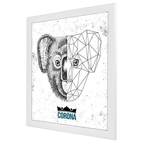Bilderrahmen Corona in Weiß (matt) mit Acrylglas 80x120cm in 35 Größen wählbar