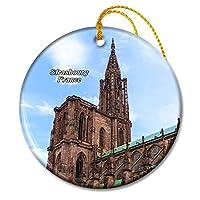 フランスストラスブール大聖堂クリスマスオーナメントセラミックシート旅行お土産ギフト