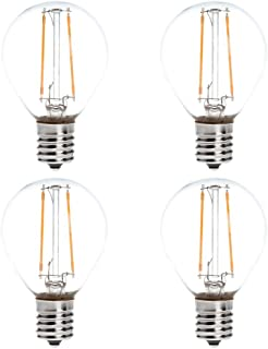 HERO-LED S11-DSE17-2W-WW27 Dimmable S11 E17 Intermediate Base 2W LED Filament Light Bulb, 25W Equivalent, Warm White 2700K, 4-Pack [Attention Oversize 0.39'']