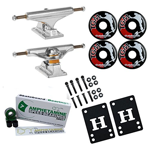Independent 139 Skateboard Trucks, Wheels, ABEC 7 Beari