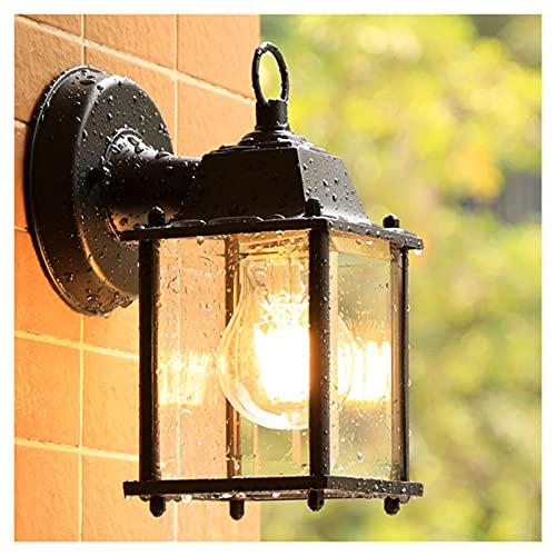Luces De Pared Al Aire Libre Linterna IP23 Impermeable Jardín Aluminio Decorativo Lámpara De Pared A Prueba De Óxido Exterior Lámpara De Pared, Para Porche Balcón Patio Y Garaje