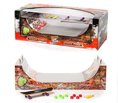 Grip & Tricks - Rampas para Finger Toy - Halfpipe - Fingerboard - Cruiser Board : Dimensions: 28 X 12 X 10 cm