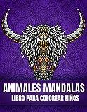 Animales Mandalas libro para colorear Niños: 65 libro para colorear de mandalas de animales para...