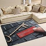 JSTEL INGBAGS Super weiche, moderne Tastatur mit Wort Persönlichkeit Test-Bereich Teppich Wohnzimmer Schlafzimmer Teppich für Kinder spielen solide Home Decorator Teppich und Teppiche 203,2 x 147,2 cm