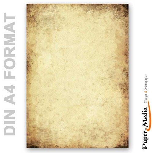 Motivpapier - Briefpapier ALTES PAPIER 20 Blatt DIN A4 90g/m²