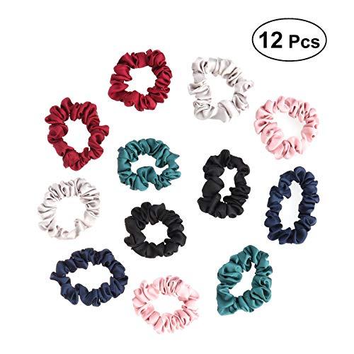 Frcolor 12pcs Bandelettes Bobble Bobble, accessoires de cheveux de support de queue de cheval pour femme (couleur assortie)