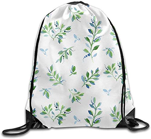 engzhoushi Sacs à Cordon,Sac de Rangement Imperméable Portable Drawstring Bags Casual Daypacks Multipurpose Daypacks - Flower Cactus Doodle