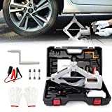 POEO Gato Elevador de Tijera para automóvil eléctrico, Kit de Herramientas Gato eléctrico para automóvil, Gato hidráulico eléctrico para Piso, construcción de Acero Engrosado