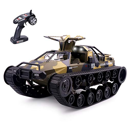 Remote Control Tank, 1:12 Scale Off-Road Crawler, 2.4Ghz Radio RC Car, 4WD High Speed All Terrain RC Truck for Kids & Adult